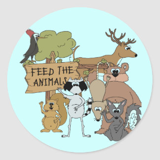 Feed the Animals Classic Round Sticker