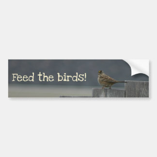 """Feed the birds"" bumper sticker"