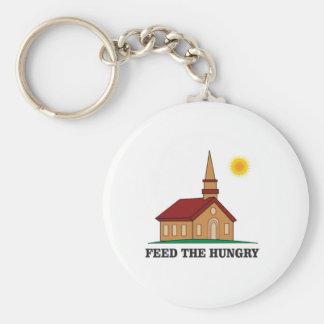 feed the hungry basic round button key ring