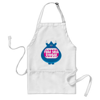 Feed this Swede funny gifts Standard Apron
