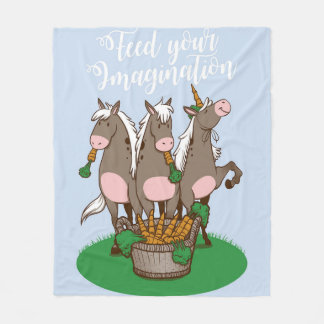 Feed Your Imagination Fleece Blanket