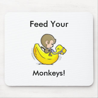 Feed Your Monkeys! Mouse Pad