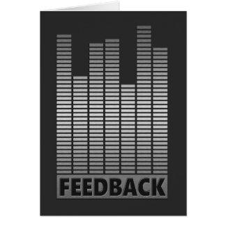 Feedback concept. card