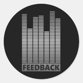 Feedback concept. classic round sticker