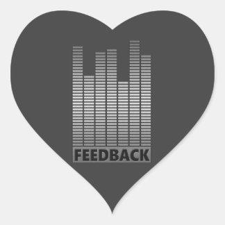 Feedback concept. heart sticker