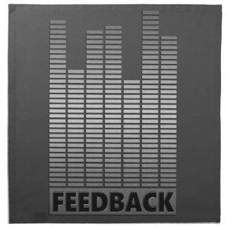 Feedback concept. napkin