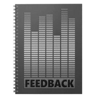Feedback concept. spiral notebook