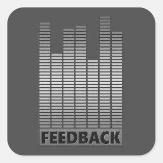 Feedback concept. square sticker