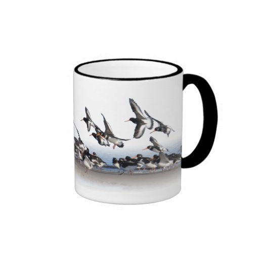 Feeding Oystercatchers Mug