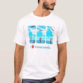 feeding seabirds in Morrocoy, I was in Venezuela T-Shirt
