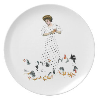 Feeding the Chickens Plate