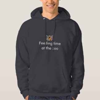 Feeding time at the zoo hooded sweatshirt