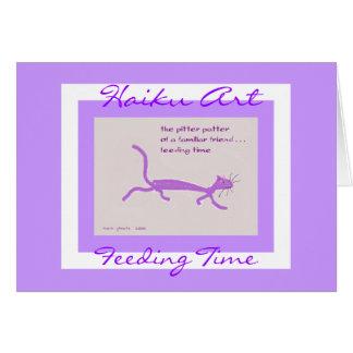 Feeding Time Customizable Haiku Art Greeting Card