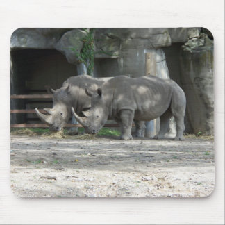 Feeding Time for the Rhinos Mousepad
