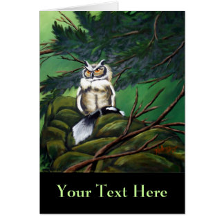 Feeding Time Owl Note Card