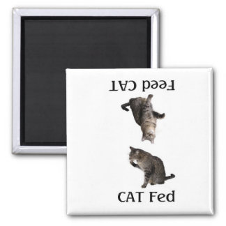 FeedTheCat Square Magnet