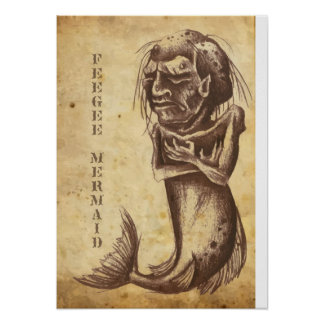 Feegee Mermaid Poster