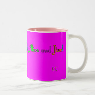 Feel Alive and Jive Two-Tone Mug