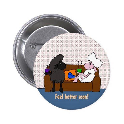 Feel Better Sheeple Pin