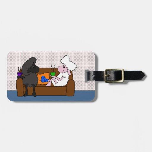 Feel Better Sheeple Travel Bag Tag