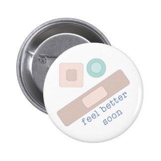 Feel Better Soon Pinback Buttons