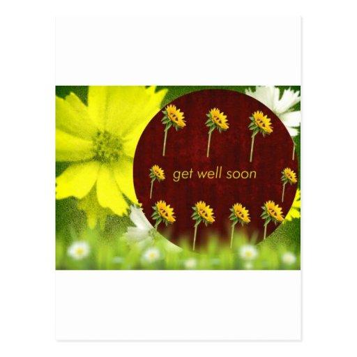 feel better soon get better soon get well postcard