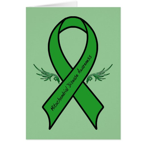 Feel Better Soon: Mitochondrial Awareness Ribbon Greeting Card