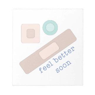 Feel Better Soon Notepads