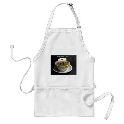 Feel Better Soon Nurse to Health Chicken Soup Aprons