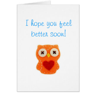 Feel Better Soon owl card