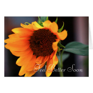 Feel Better Soon Sunflower Greeting card