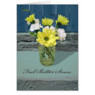 Feel Better Soon, Yellow and White Daisies in Jar Card