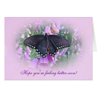 Feel Better Spicebush Swallowtail Butterfly Greeting Card