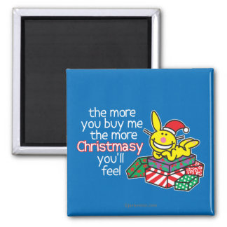 Feel Christmasy Square Magnet