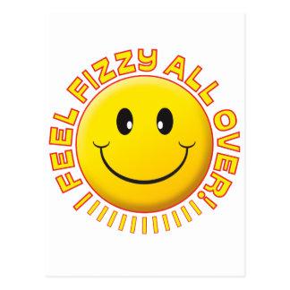 Feel Fizzy Smiley Postcard