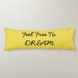 Feel free to dream pillow