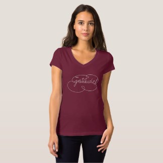 feel GRATITUDE - Bold CloudS -W T-Shirt