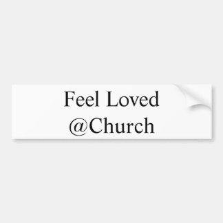 """Feel Loved @Church"" sticker"
