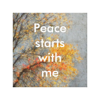 Feel peaceful canvas print