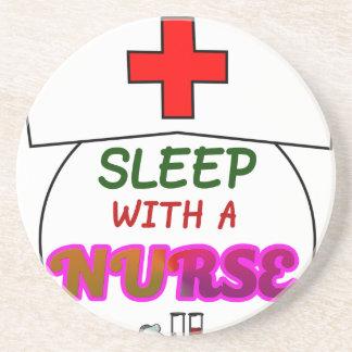 feel safe night sleep nurse, gift for nurses shirt coaster
