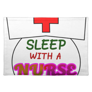 feel safe night sleep nurse, gift for nurses shirt placemat