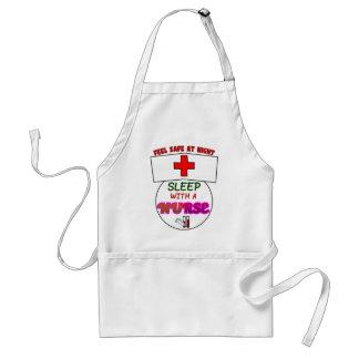 feel safe night sleep nurse, gift for nurses shirt standard apron