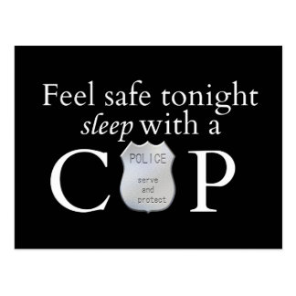 Feel safe tonight! postcard