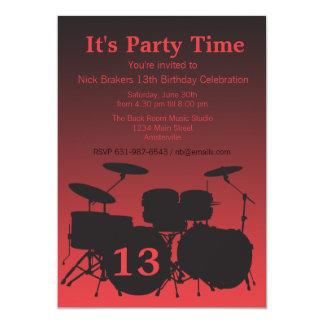Feel the Beat Drum Invitation
