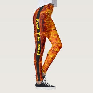Feel The Burn Fire Leggings S XL Personalize Pants