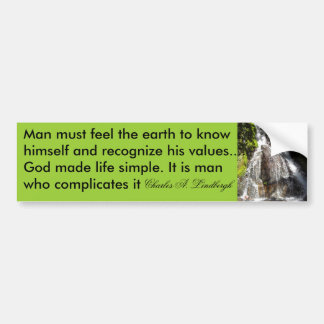 feel the earth bumper sticker
