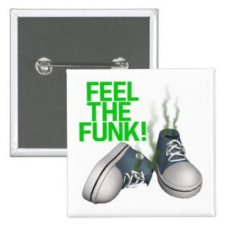 Feel The Funk 15 Cm Square Badge