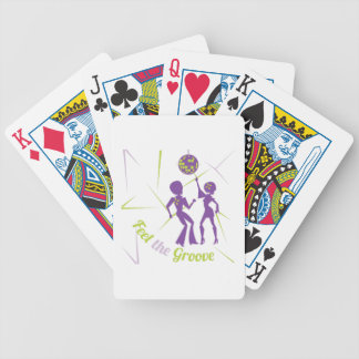 Feel The Groove Bicycle Playing Cards