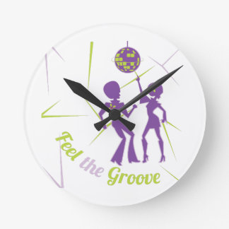 Feel The Groove Round Clock