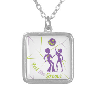 Feel The Groove Silver Plated Necklace